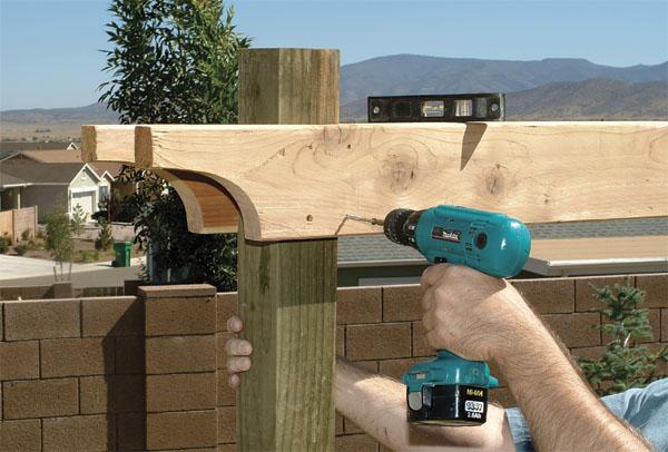 Cómo construir una pérgola de madera